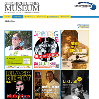WEBSITE DES MUSEUMS ST. VALENTIN